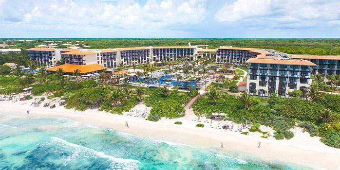 Unico 20°87° Hotel Riviera Maya Mexico Golf Holiday Aerial View