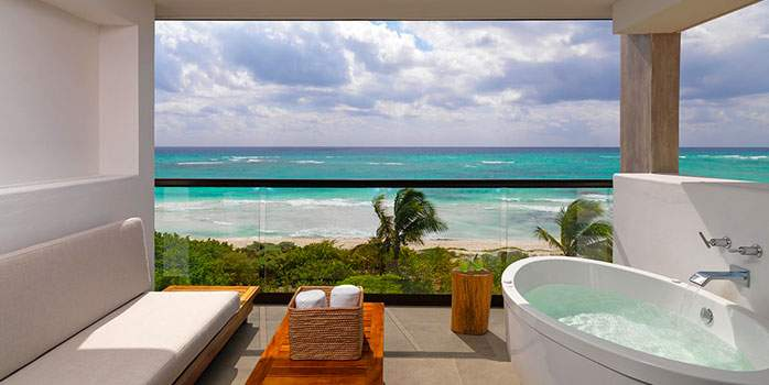 Unico 20°87° Hotel Riviera Maya Mexico Golf Holiday Alcoba Room Balcony