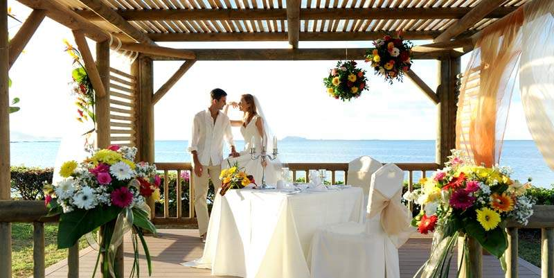 Mauritius Wedding Ceremony on the deck