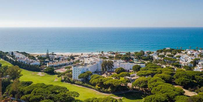Aerial View Dona Filipa Hotel Algarve Golf Holiday Portugal