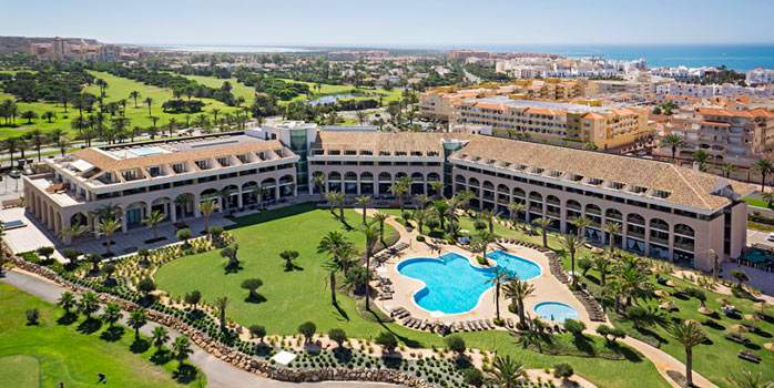 Aerial View Hotel Golf Almerimar Almeria Spain Golf Holidays