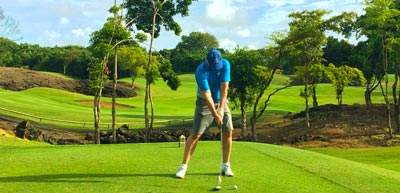 Mark teeing on of the Links Golf Course at Belle Mare Plage, Mauritius