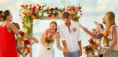 Couple getting married in Zilwa Resort, Mauritius