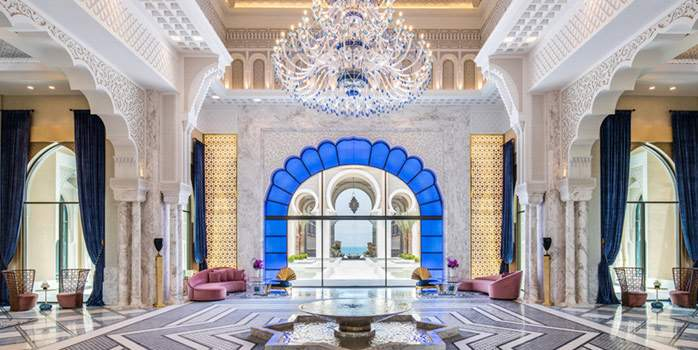 Lobby Saadiyat Island Hotel Abu Dhabi Middle East United Arab Emirates Chaka Travel Luxury Golf Travel