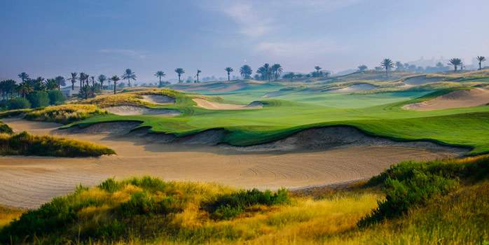 Saadiyat Beach Golf Club United Arab Emirates UAE Middle east Abu Dhabi Luxury Golf Holidays Links Course 9th Hole