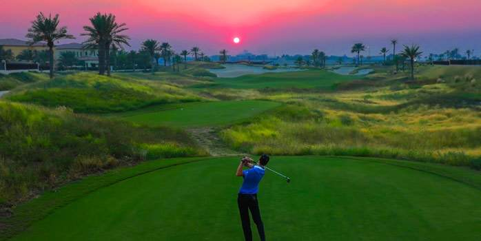 Saadiyat Beach Golf Club United Arab Emirates UAE Middle east Abu Dhabi Luxury Golf Holidays Links Course 3rd Hole