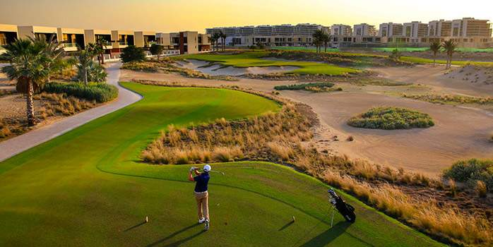 Trump International Golf Club Bunker City View Green tee off