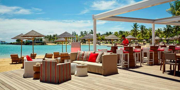 Waterfront Bar Lux Grand Gaube Hotel Mauritius Honeymoon