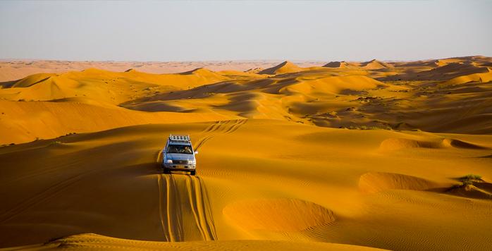Dune bashing Oman desert