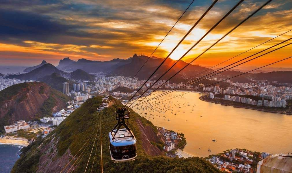Cable Car to the top of Table Top Mountain, Rio De Janeiro